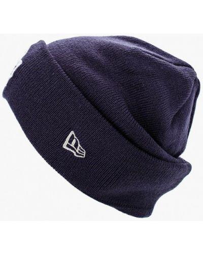 Синяя шапка осенняя New Era