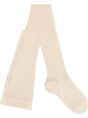 Хлопковые белые теплые носки до середины колена Caramel