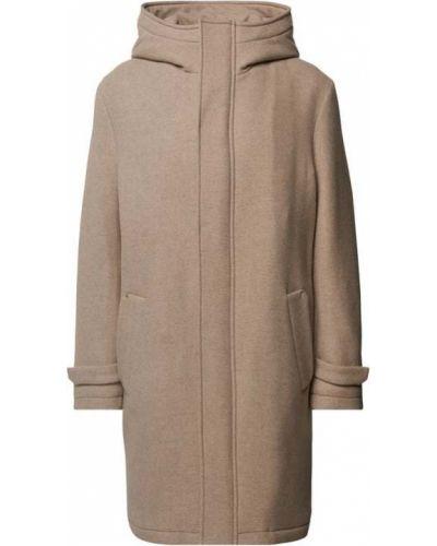 Beżowy płaszcz z kapturem Drykorn