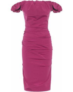 Платье миди через плечо фиолетовый Maison Margiela