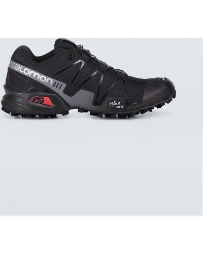 Черные кроссовки с сеткой сетчатые Salomon