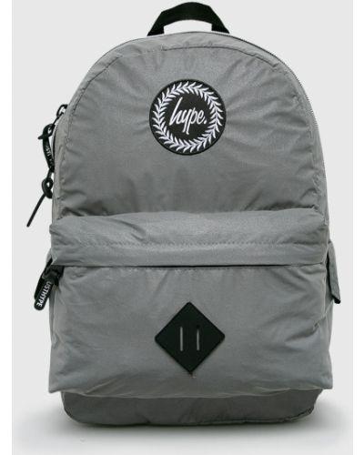Рюкзак серый однотонный Hype