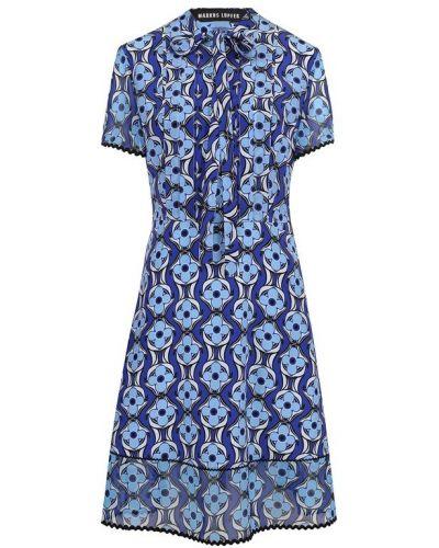 Платье на пуговицах с цветочным принтом Markus Lupfer