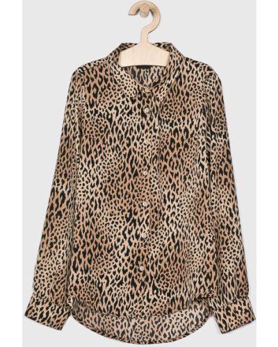 Блуза на пуговицах коричневый Lmtd