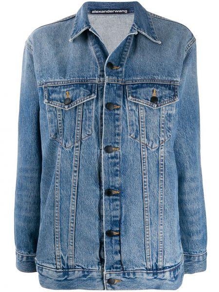 Джинсовая куртка на пуговицах с карманами Alexander Wang