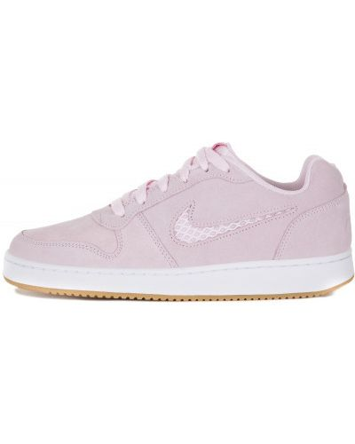 Розовые кеды на шнуровке Nike
