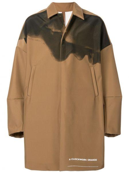 Klasyczny brązowy płaszcz z długimi rękawami Undercover