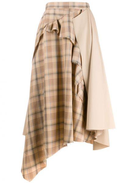 Spódnica asymetryczny z draperią Act N°1