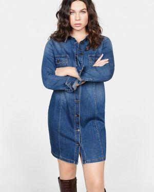 Фиолетовое джинсовое платье Violeta By Mango