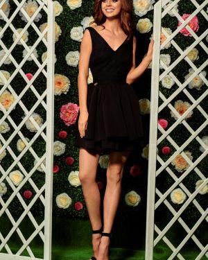 Czarna sukienka wieczorowa na komunię elegancka Lemoniade