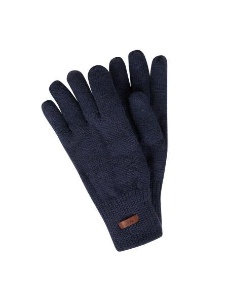 Wełniany niebieski rękawiczki elastyczny Barts