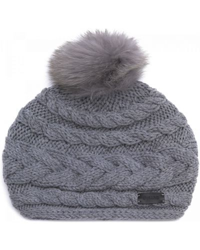 Текстильная шапка - серая Pollini