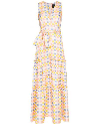Шелковое платье макси Paper London