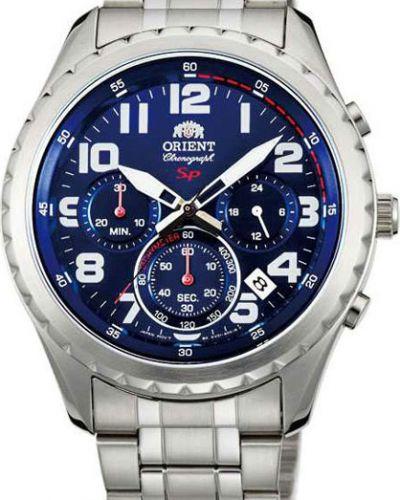 Часы водонепроницаемые синий серебряный Orient