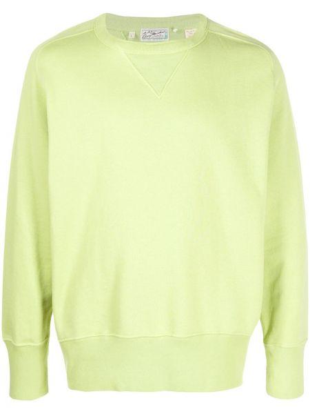 Зеленый хлопковый свитер с круглым вырезом круглый Levi's Vintage Clothing