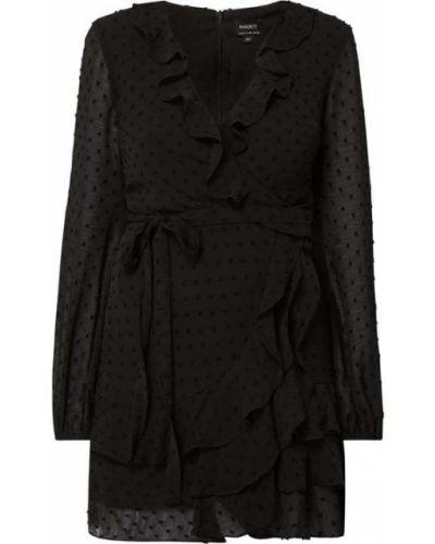 Sukienka kopertowa - czarna Bardot