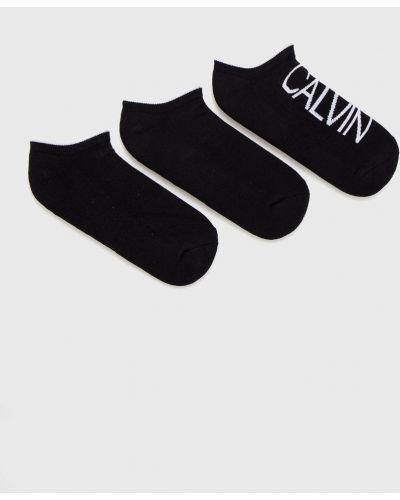 Czarne skarpety z printem Calvin Klein