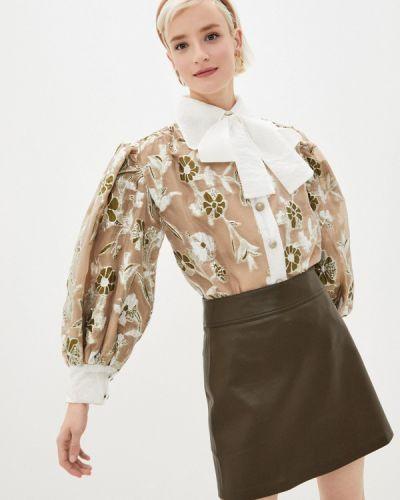 Бежевая блузка с длинными рукавами Sister Jane