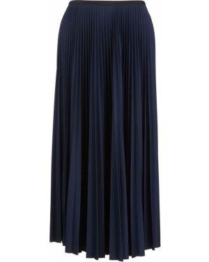 Плиссированная юбка синяя расклешенная Lacoste