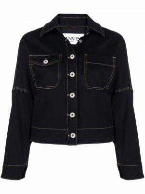 Черная куртка с принтом Lanvin