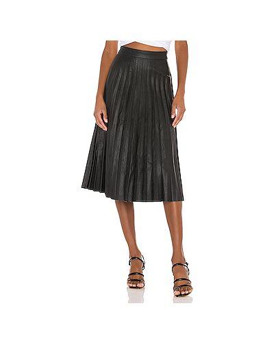 Плиссированная черная кашемировая юбка на молнии Cupcakes And Cashmere