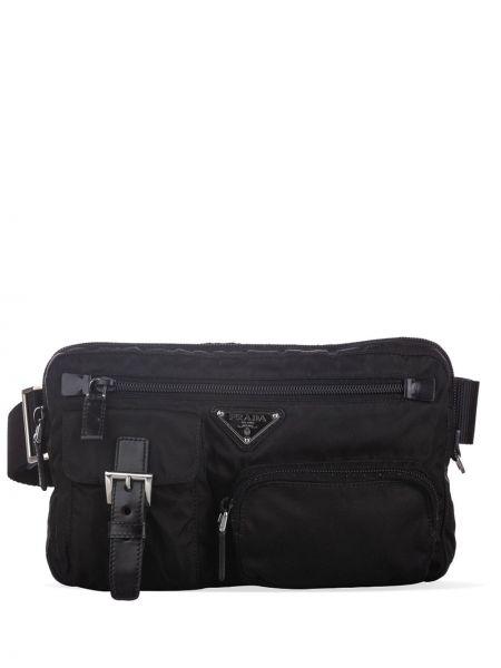 Черная нейлоновая поясная сумка на молнии с подкладкой Prada Pre-owned