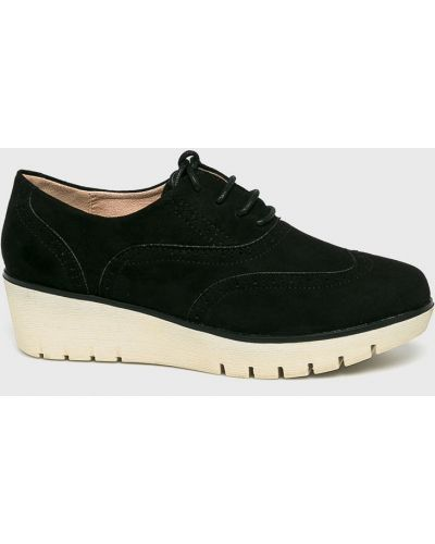 Черные туфли текстильные Corina