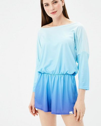 Голубой комбинезон с шортами Colour Pleasure
