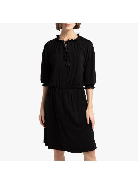 Платье с поясом из вискозы на резинке La Redoute