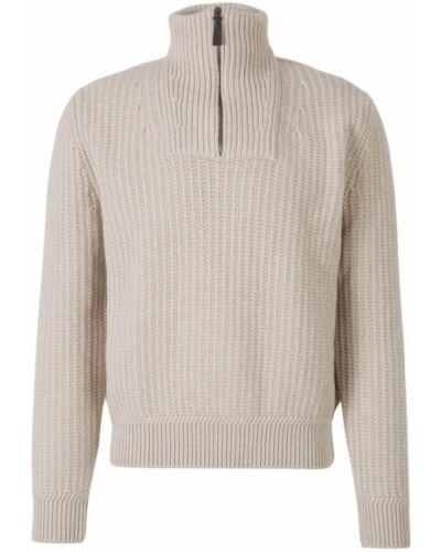 Kaszmir sweter z zamkiem błyskawicznym Brioni