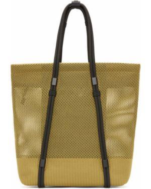 Черная текстильная сумка с заплатками оверсайз 132 5. Issey Miyake