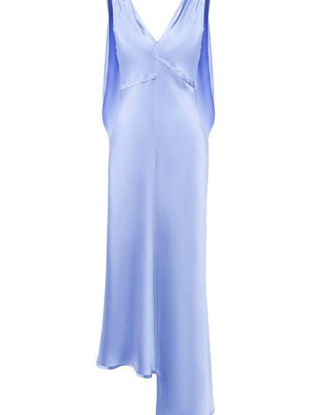 Синее шелковое платье Walk Of Shame