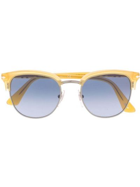 Солнцезащитные очки металлические хаки Persol