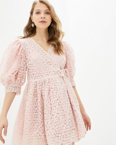 Розовое платье с запахом Sister Jane