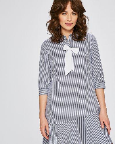Платье мини на пуговицах прямое с оборками Silvian Heach
