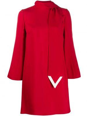 Платье мини на молнии трапеция Valentino