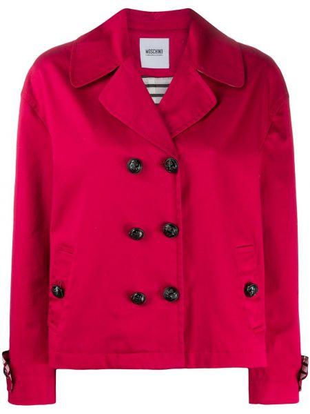 С рукавами розовая куртка на пуговицах свободного кроя Moschino Pre-owned