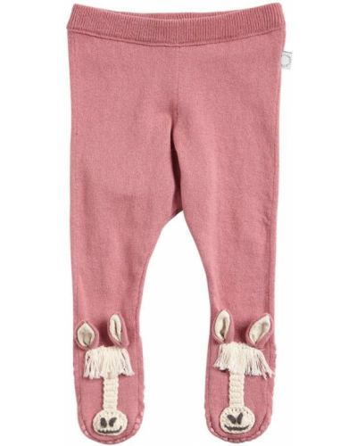 Różowe legginsy bawełniane Stella Mccartney Kids
