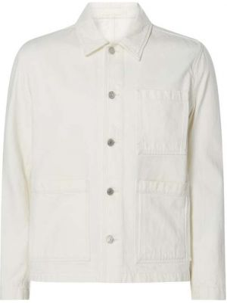 Biała kurtka jeansowa bawełniana Norse Projects