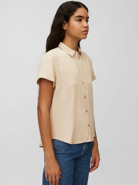 Свободная бежевая блузка с короткими рукавами Marc O'polo Denim