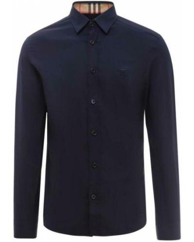 Koszula zapinane na guziki - niebieska Burberry