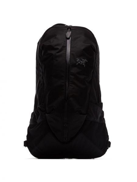 Czarny plecak z nylonu Arcteryx