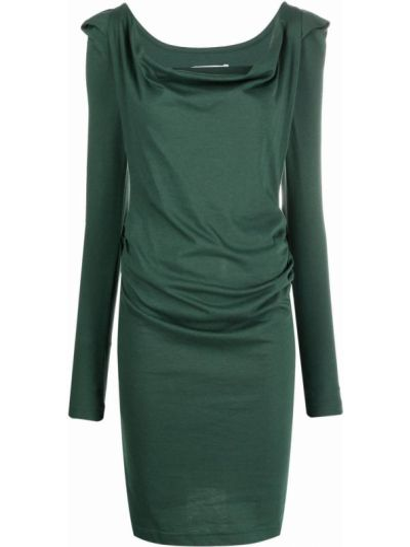 Платье макси с длинными рукавами - зеленое Vivienne Westwood