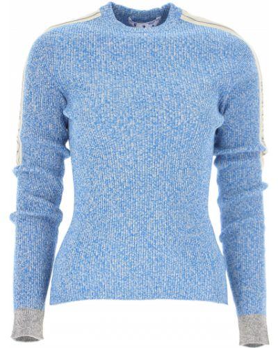 Biały długi sweter z wiskozy z długimi rękawami Off-white C/o Virgil Abloh