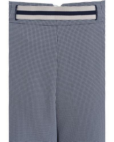 Синие брюки из вискозы Stefanel