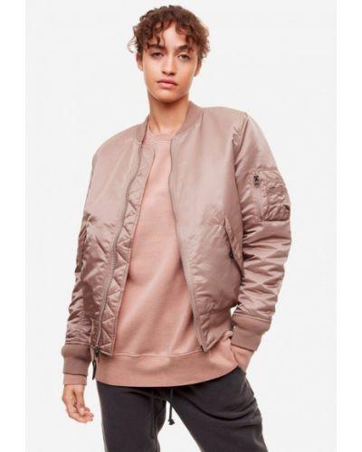 Утепленная куртка осенняя розовая Alpha Industries
