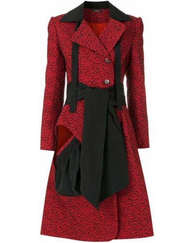 Длинное пальто - красное À La Garçonne