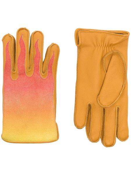 Żółte rękawiczki skorzane Kagawa Gloves