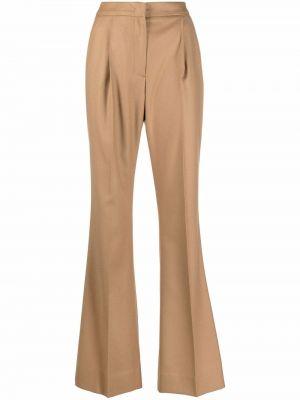 Шерстяные брюки - бежевые Pt01