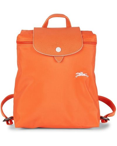 Кожаный рюкзак - оранжевый Longchamp